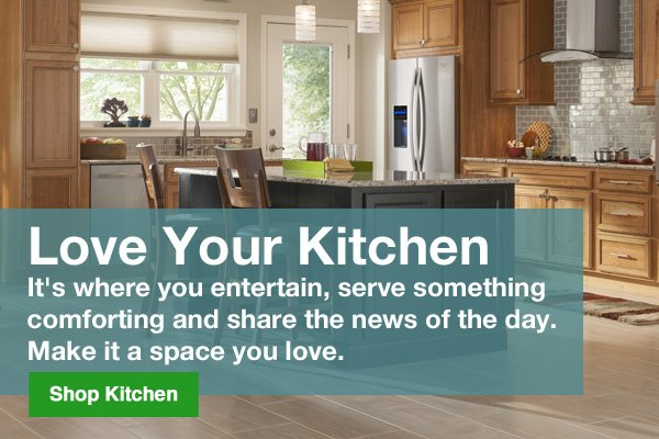 Love your kitchen. It's where you entertain, serve something comforting and share the news of the day. Make it a space you love. Shop Kitchen.