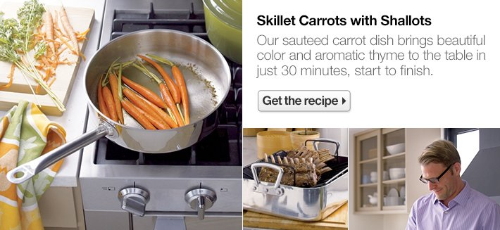 Skillet Carrots with Shallots