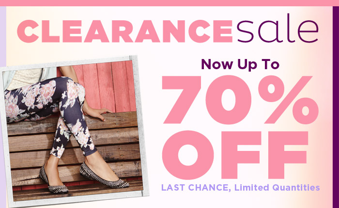 Clearance Sale! Now up to 70% Off