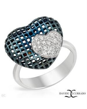 DAVIDE CURRADO Made In Italy Ring Designed In 18K Two Tone Gold