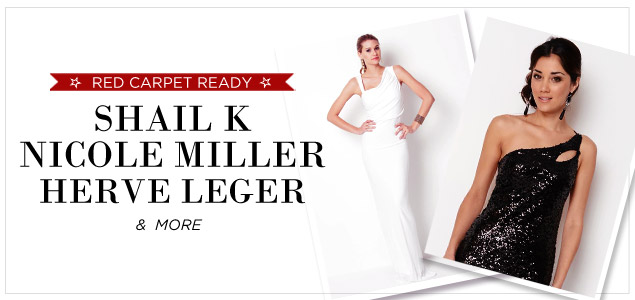 Red Carpet Ready Dresses By Shail K, Nicole Miller, Herve Leger, And More