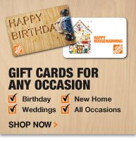 Gift Cards for any occasion.