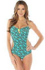 The Leopard Turquoise Monokini