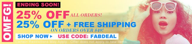 HURRY ENDING SOON! 25% + Free Ship on orders over $49! Shop Miss KL Now
