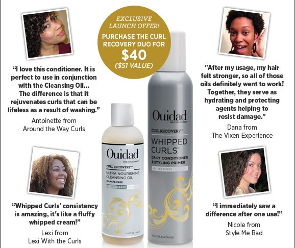 Exclusive Launch Offer! Purchase the Curl Recovery Duo for $40 ($51 value)