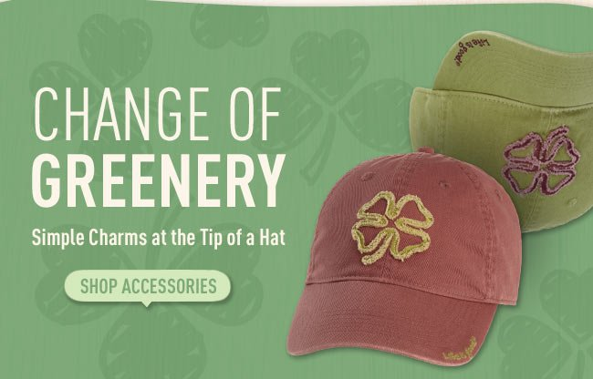 Change of Greenery - Simple Charms at the Tip of a Hat