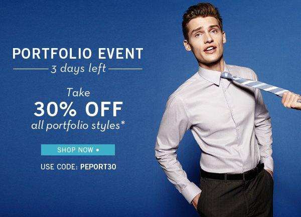 3 Days Left to Take 30% Off Portfolio Styles