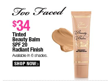 Too Faced Tinted Beauty Balm SPF 20 Radiant Finish - $34