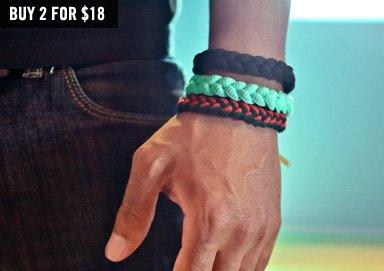 Shop Bold & Solid Soft Cloth Bracelets