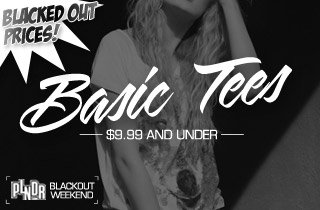 Blacked Out Prices: Basic Tees