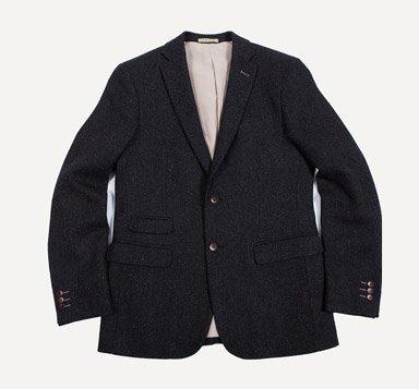 Balzac Tweed Blazer in Charcoal