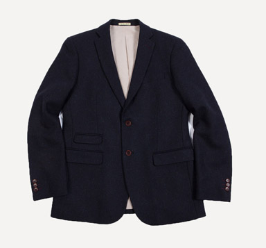 Balzac Tweed Blazer in Navy
