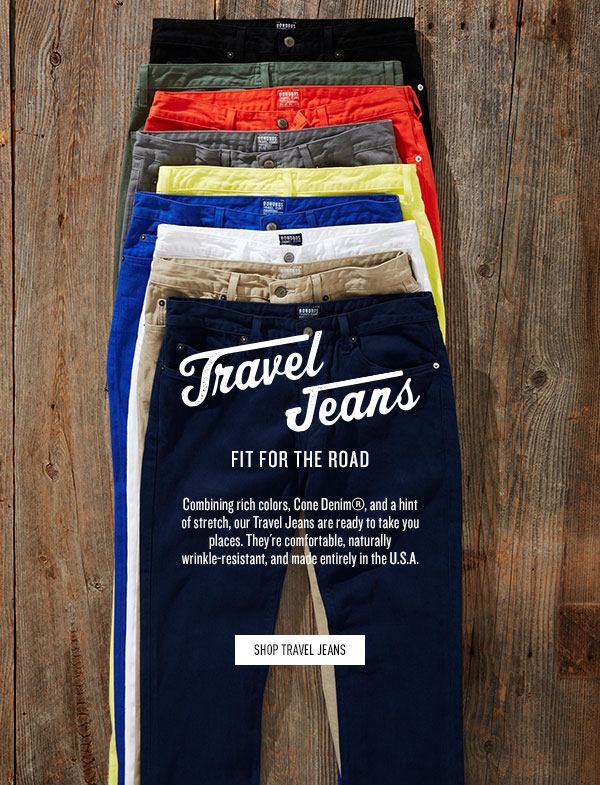 Travel Jeans: Fit For The Road