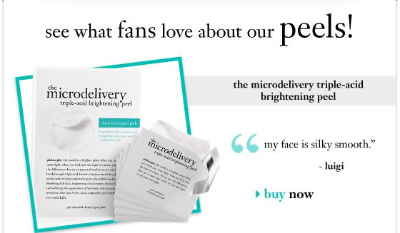 see what fans love about our peels! - the microdelivery triple-acid brightening peel - buy now