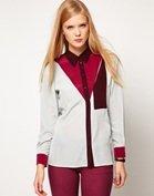 ASOS Shirt With Colourblock And Pocket