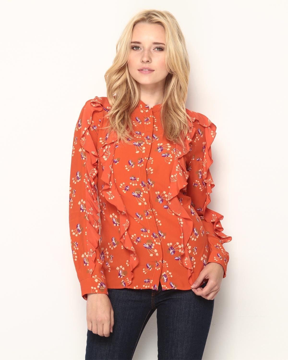 See by Chloe Ruffle Blouse - Made In Italy $139