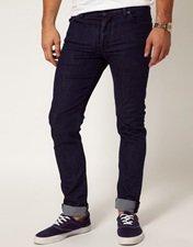 ASOS Skinny Jeans In Dark Blue