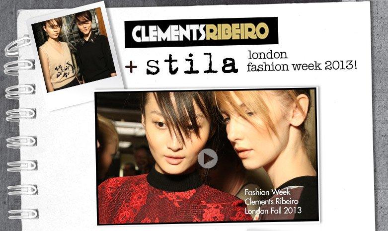 stila + clements ribeiro at london fashion week (video)