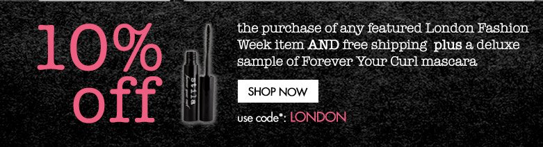 10% off plus free shipping and deluxe mascara sample
