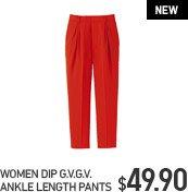 WOMEN DIP G.V.G.V. ANKLE LENGTH PANTS