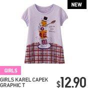 GIRLS KAREL CAPEK GRAPHIC T