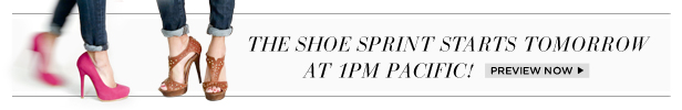 The Shoe Sprint starts tomorrow at 1PM Pacific! | Preview Now