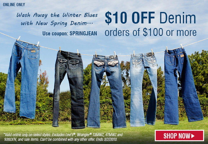 $10 Off Denim