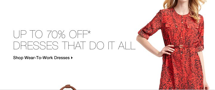 Up To 70% Off* Dresses That Do It All