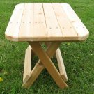 Cedar Folding Side Table
