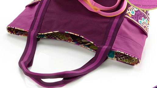 Large Canvas Tote in Plum Crazy