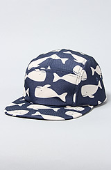 The Happy Whale Camper Cap in Navy