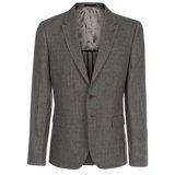 Paul Smith Jackets - Grey Checked Linen Jacket
