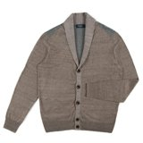 Paul Smith Knitwear - Brown And Khaki Ribbed Striped Cardigan