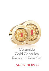 Ceramide Gold Capsules Face and Eyes Set. SHOP NOW.