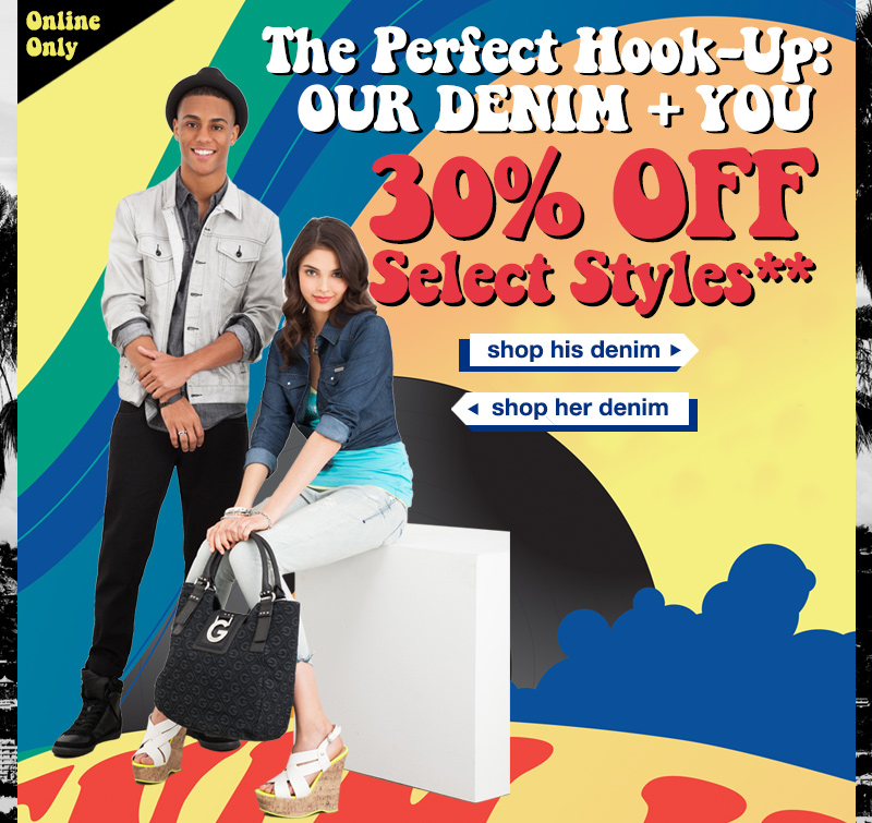 30% OFF** Select Denim Styles