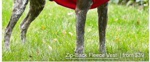 Zip-Back Fleece Vest  | from $39