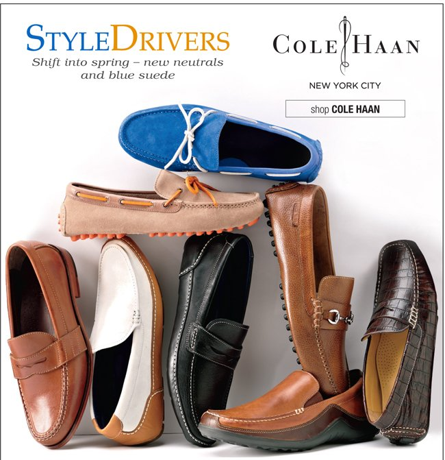 STYLE DRIVERS | SHIFT INTO SPRING - NEW NEUTRALS AND BLUE SUEDE | SHOP COLE HAAN