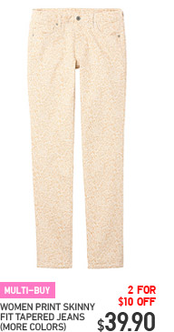 MULTI-BUY - WOMEN PRINT SKINNY FIT TAPERED JEANS (MORE COLORS)