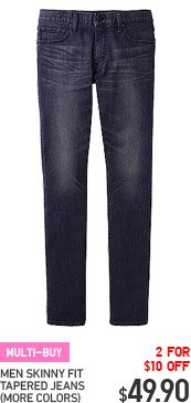 MULTI-BUY - MEN SKINNY FIT TAPERED JEANS (MORE COLORS)