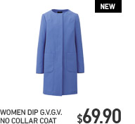 WOMEN DIP G.V.G.V. NO COLLAR COAT