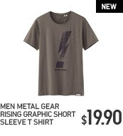 MEN METAL GEAR RISING GRAPHIC SHORT SLEEVE T SHIRT