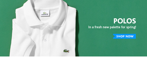 POLOS. In a fresh new palette for spring!
