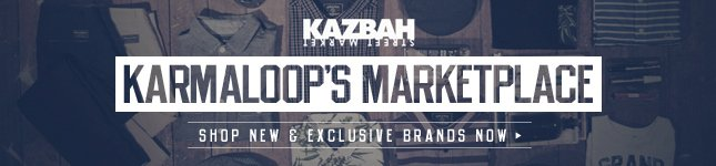 Shop Karmaloop's Marketplace Kazbah for New and Upcoming Brands.