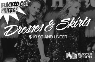Blacked Out Prices: Dresses and Skirts