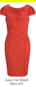 Lazer Cut Detail Dress