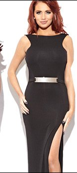 Amy Childs Jade Cowl Back Maxi