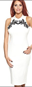Amy Childs Abbi High Neck Dress