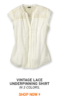 Lace Underpinning Shirt