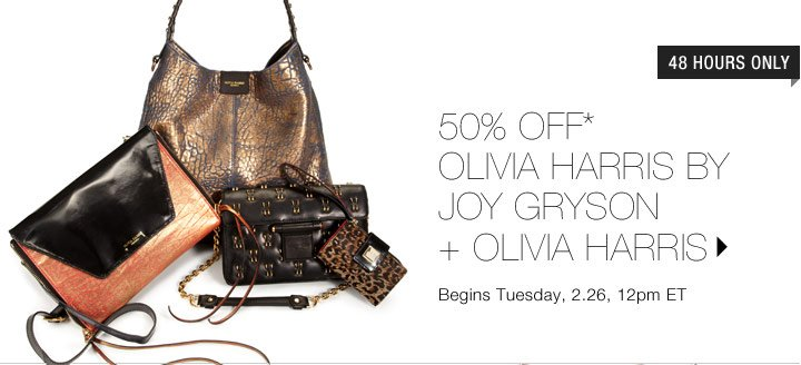 50% Off* Olivia Harris by Joy Gryson + Olivia Harris...Shop Now