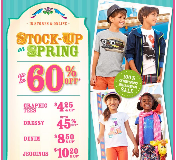 Stock Up On Spring - Up To 60% Off!